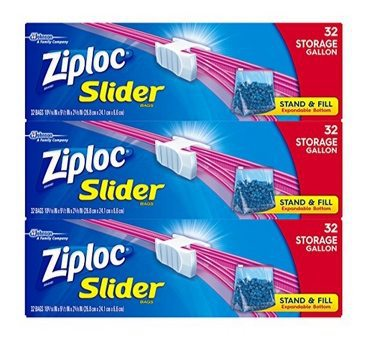 Ziploc Slider Gallon-Size Storage Bags 96-Count Only $9 Shipped