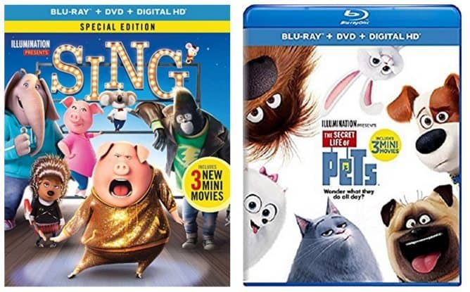 Sing Blu-ray Combo and The Secret Life of Pets Blu-ray Combo Only $12.99