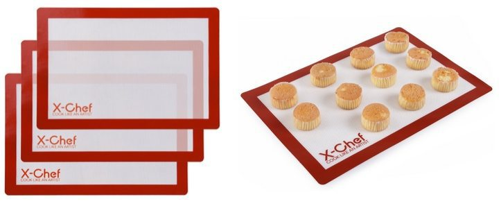 3 Pack Silicone Baking Mats Only $12.99