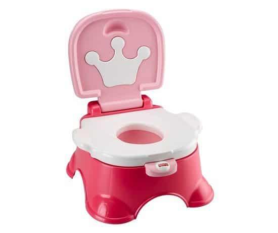Fisher-Price Pink Princess Stepstool Potty Only $10.55