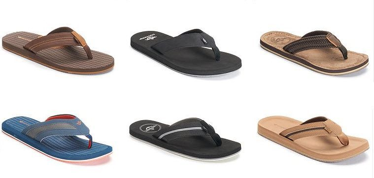 Dockers Men's Flip Flops or Slides $8.49 Each **HOT**