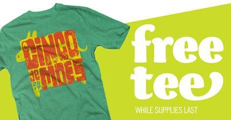 Possible FREE T-Shirts at Moe's Southwest Grill Today