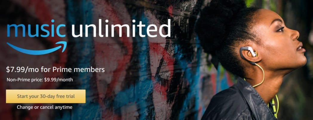 Amazon Music Unlimited Day Free Trial Deal - Try Amazon Music Unlimited day trial for free. Change or cancel anytime. $/mo after. Listen to tens of millions of songs on any device anywhere, available for both Prime and Non-Prime members.