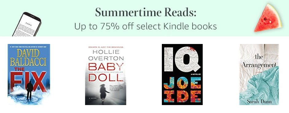 Up to 75% off Select Summertime Reads on Kindle **Today Only**
