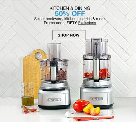 Macy's: Additional 50% off Kitchen & Dining **HOT**