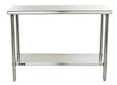 TRINITY EcoStorage NSF Stainless Steel Table, 48-Inch $88 Shipped (Was $160)