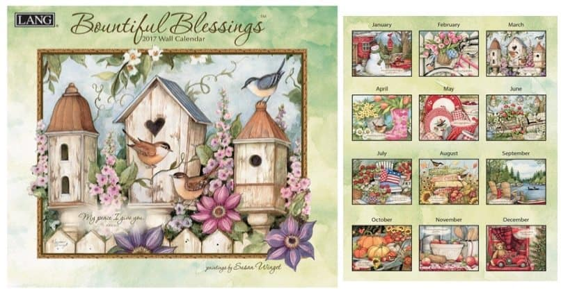 Lang 2017 Bountiful Blessings Wall Calendar Only 19¢