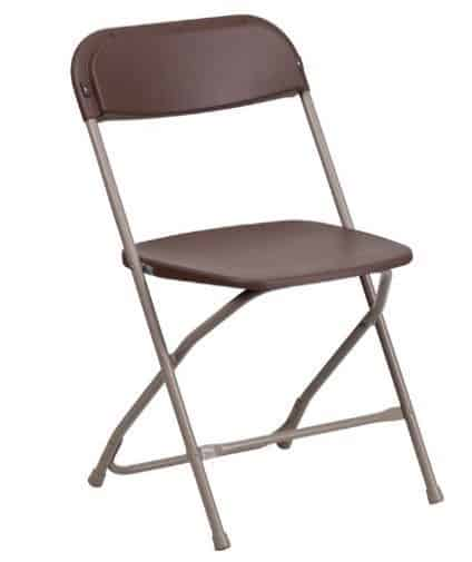 Premium Brown Plastic Folding Chair Only $7.53