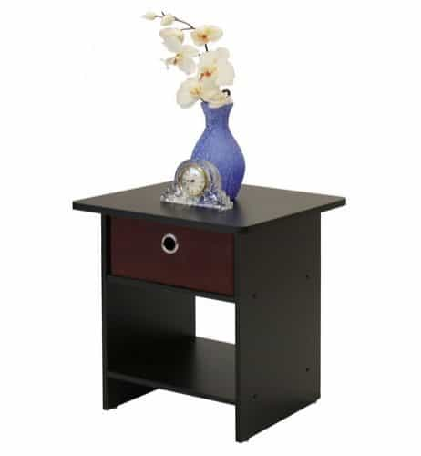 Furinno End Table/Night Stand with Bin Drawer $12.59