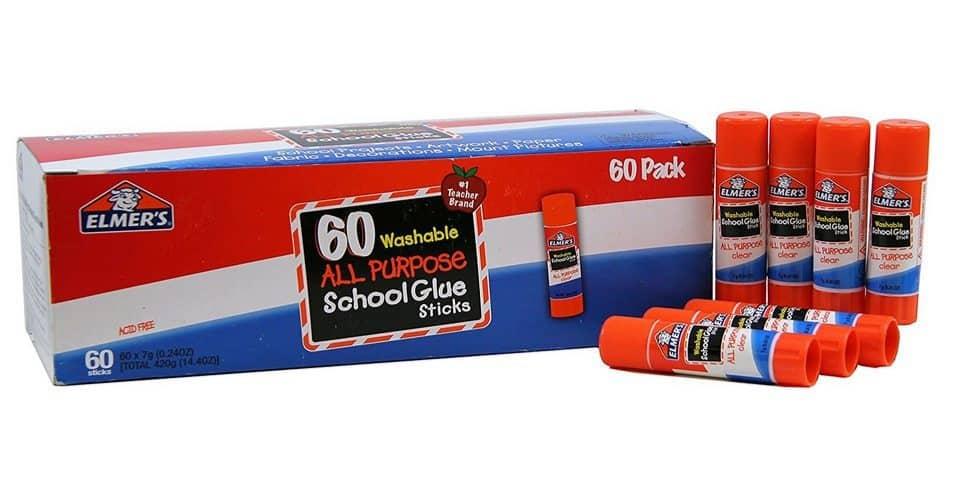 Elmer's All Purpose School Glue Sticks 60-Pack $11.43 ~ Only 17¢ Each