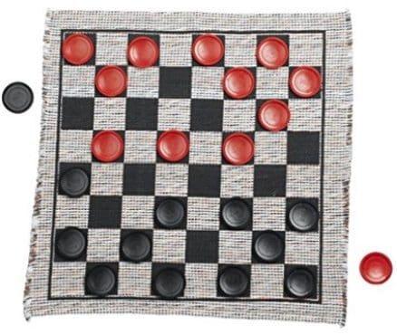 Jumbo Checker Rug Game Only $8.38