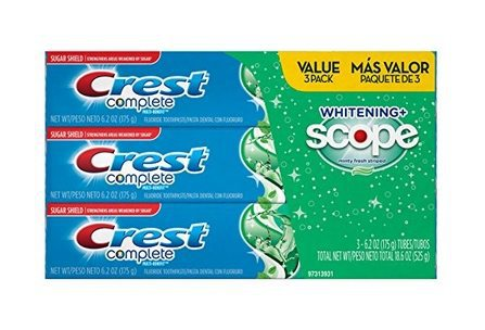 Crest Complete Whitening Plus Scope Toothpaste 3-Pack $5.57 **Only $1.86 Each**