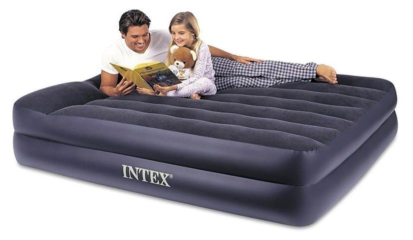 Intex Pillow Rest Raised Airbed with Built-in Pillow and Electric Pump $31.99 **Today Only**