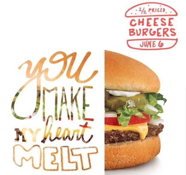 Sonic: Half Price Cheeseburgers All Day Today!