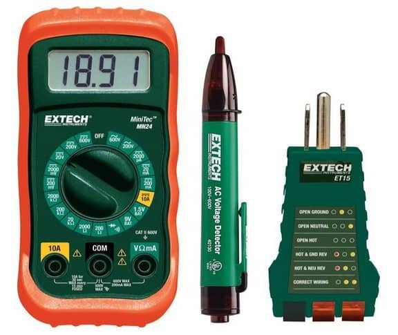 Extech MN24-KIT Electrical Test Kit $19.99 (Was $50)