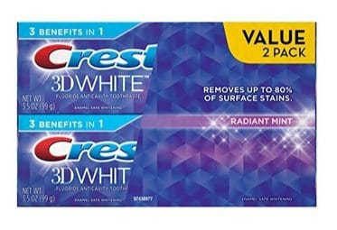 Crest 3D White Radiant Mint Whitening Toothpaste 2-Pack $3.37 **Only $1.69 Each**