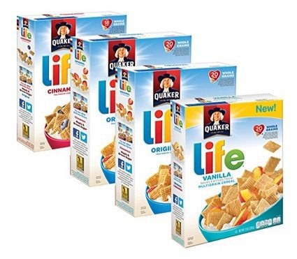 Quaker Life Breakfast Cereal Variety Pack $7.59 <br>**Only $1.90 Each Shipped**