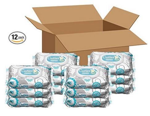 Amazon Baby Wipes Deal ~ Cuties 12 Pack $11.09 **Only 92¢ Per Pack Shipped**
