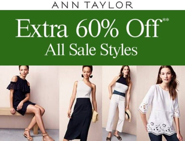 Save an Extra 60% Off at Ann Taylor