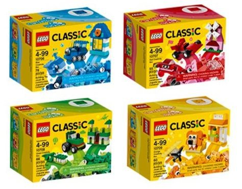 LEGO Classic Quad Pack Building Kits $14.99 <br>**Only $3.75 per kit**