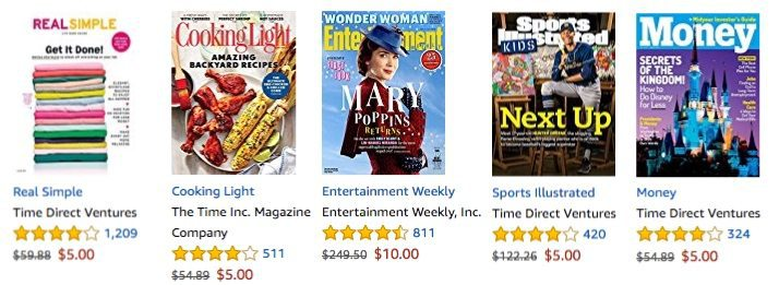 Amazon: Up to 96% Off Best Selling Magazine Subscriptions **Today Only**