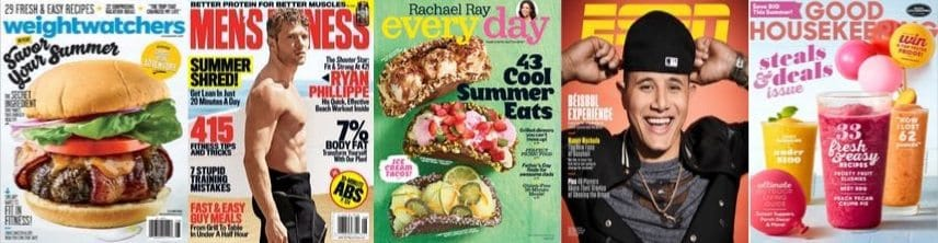 4 Magazines for $15 **Only $3.75 Each**