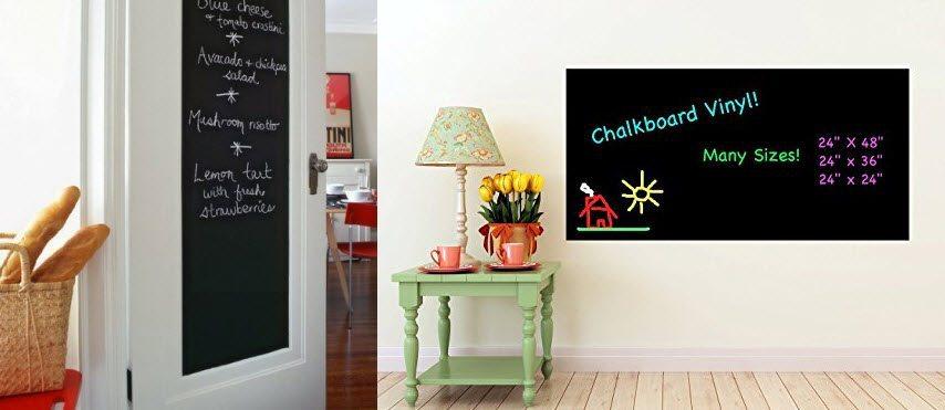 Fancy-fix Blackboard Vinyl Peel & Stick Chalkboard Wall Sticker Only $4.89 (Was $18)