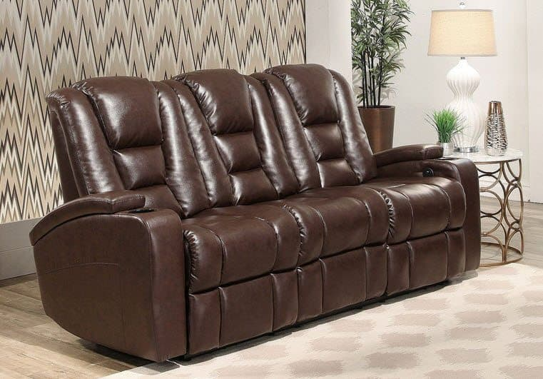Mastro Leather Power-Reclining Home Theater Seating Sofa $699 Shipped (Was $1200)
