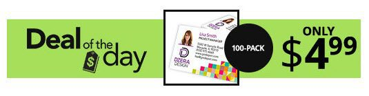 Get 100 business cards for only 499 w same day pick up for Same day business cards office depot