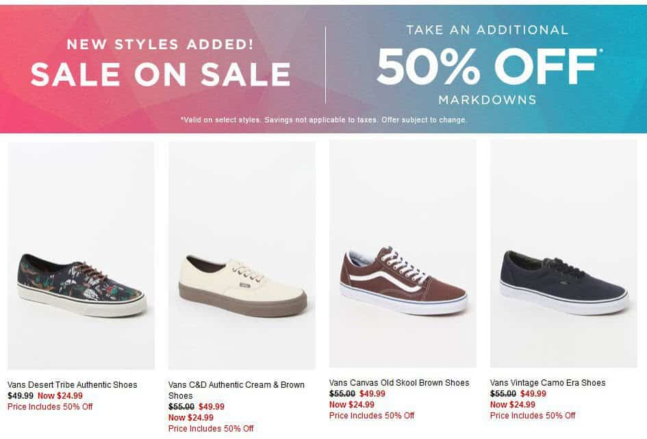 PacSun: Add'l 50% off Mens & Womens Sneakers **Today Only**