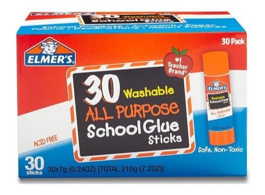 Elmer's Washable School Glue Sticks 30-Pack $7.13 ~ Only 24¢ Each