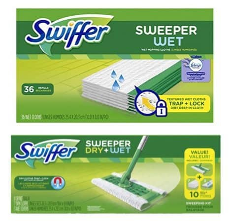 Swiffer Sweeper Wet Pad Refills 36 Count Only $7.90
