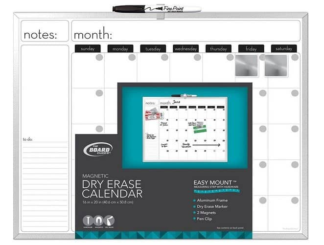 Magnetic Dry-Erase Calendar Only $5.49 (Was $16)