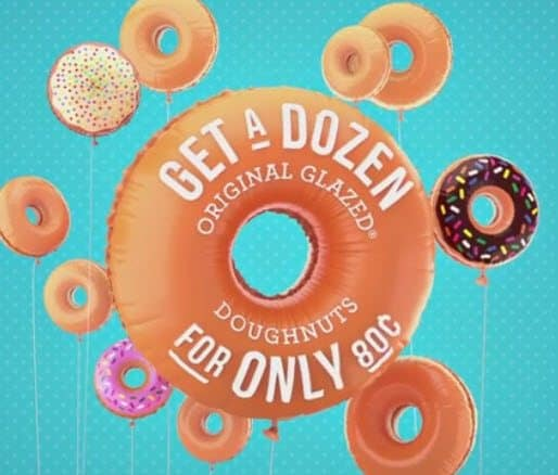 Krispy Kreme: Buy One Dozen Doughnuts, Get Another for $0.80 - Valid Today Only