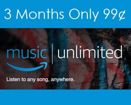 3 Months of Amazon Music Unlimited for only $0.99