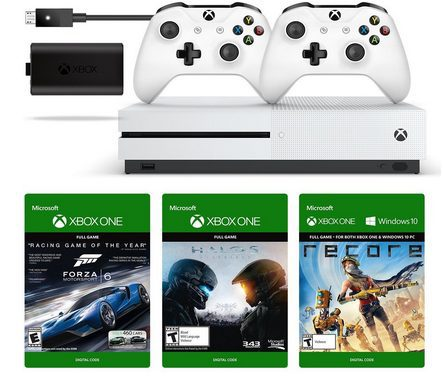 Xbox One S 500GB Console with Bonus Game and Controller $249 Shipped