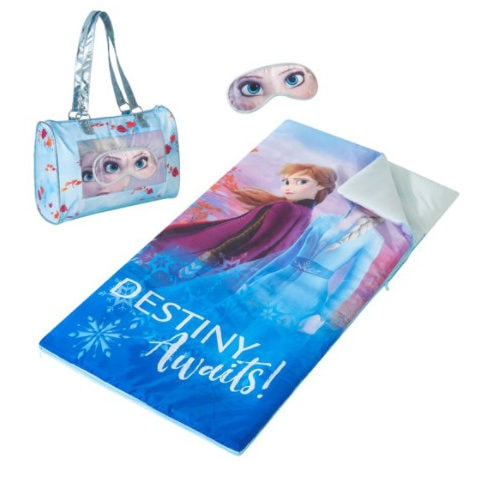 Disney Frozen Sleepover Slumber Nap Mat with Purse and Eye Mask Only .97