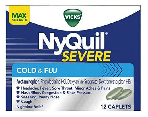 Vicks NyQuil SEVERE Cough Cold and Flu Relief ONLY $4.00