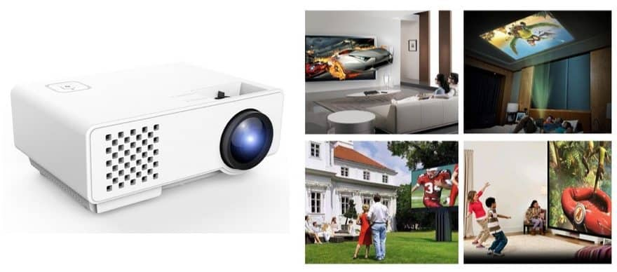 LED Multimedia Portable Home Theater Video Projector Only $56 (Was $130)