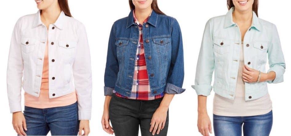 Faded Glory Women's Classic Denim Jacket Only $8