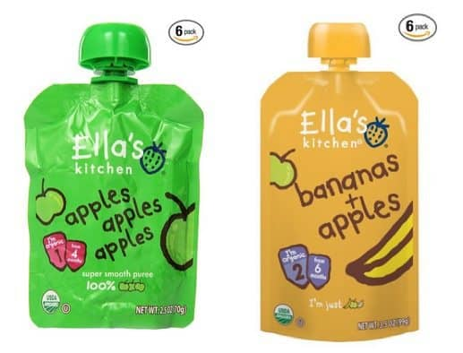 Ella's Kitchen Organic Stage 1 Apples 6-Pack $3.61 ~ Stage 2 Bananas + Apples 6-Pack Only $5.58