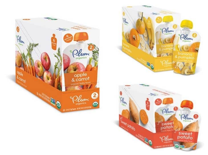 Plum Organic Baby Food Pouches 12-Packs as low as $8.79 Shipped **Only 73¢ Each**