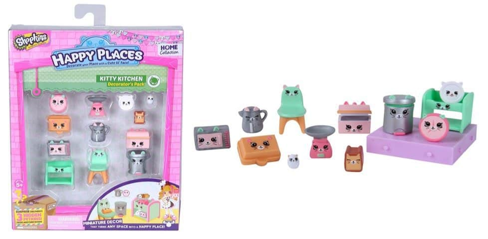 Happy Places Shopkins Decorator Pack Kitty Kitchen Only $3.90
