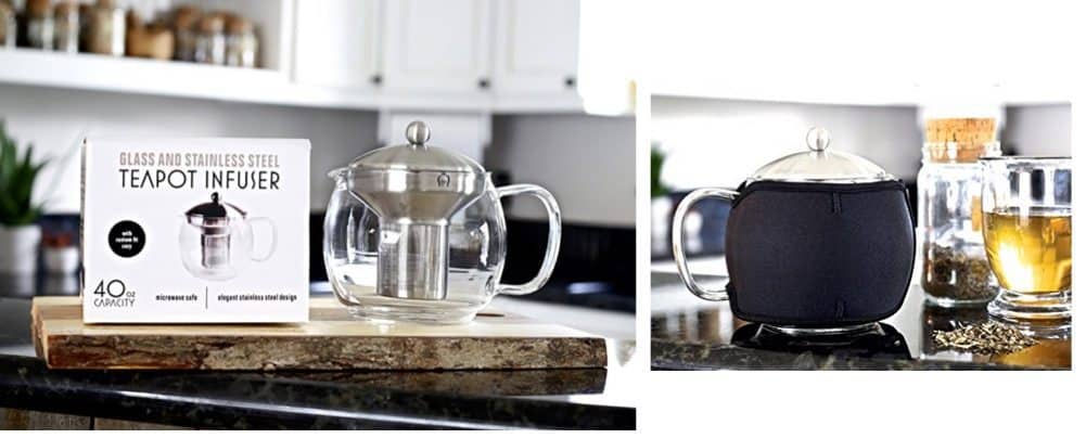 Willow & Everett Teapot Kettle with Warmer $19.99 **Today Only**