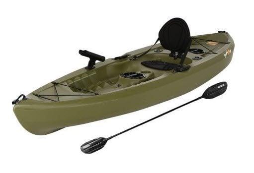Lifetime Tamarack 120 Angler Kayak, Olive Green $215 (Was $450)