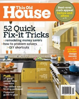One Year Subscription to This Old House Magazine $5.00