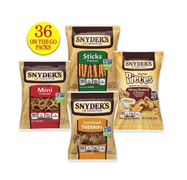 Snyder's of Hanover Pretzel Variety Pack 36 Count $8.20 Shipped **Only 23¢ Per Bag**