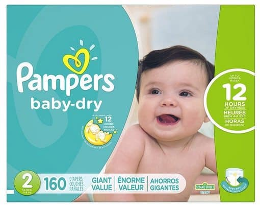 Pampers Baby Dry Size 2 Diapers 160-Count $23.64 Shipped **Only 15¢ Each**
