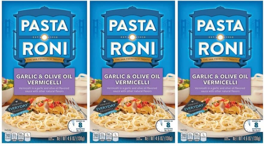 Pasta Roni Garlic & Olive Oil Vermicelli 12-Pack $9.35 Shipped **Only 78¢ Per Box**