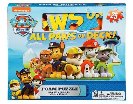 Paw Patrol Foam 25 Piece Floor Puzzle Only $6.85 <br>(Was $16.95)